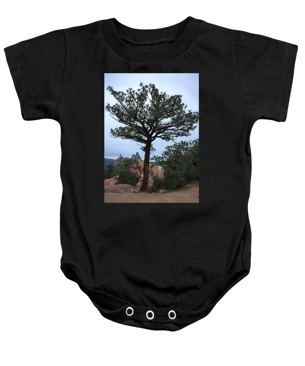 American West Baby Onesie featuring the photograph Garden Of The Gods At Daybreak by Richard Smith
