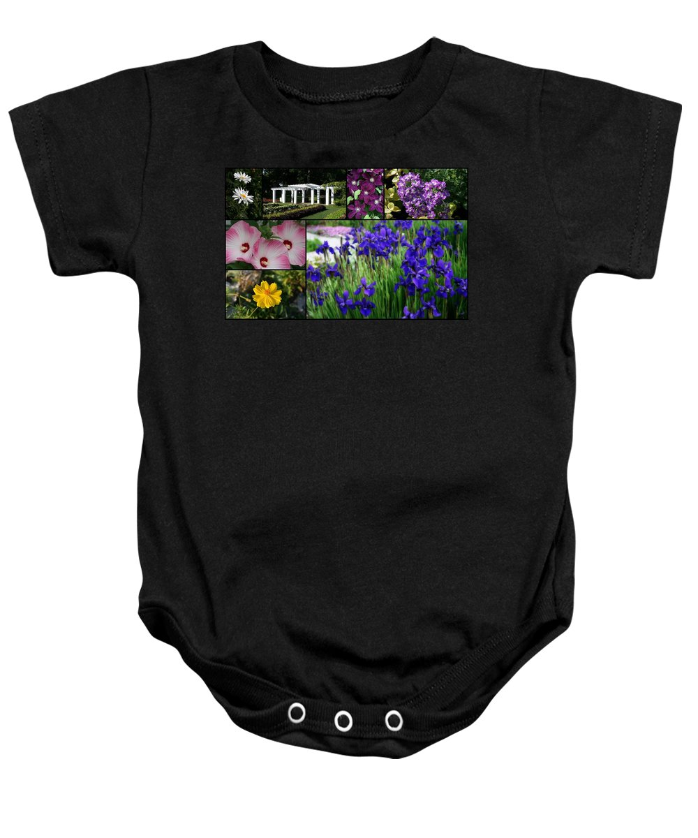 Wisconsin Baby Onesie featuring the photograph Gardens Of Beauty by Kay Novy