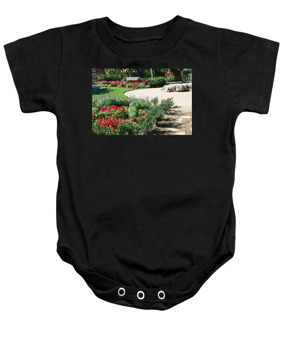 Garden Baby Onesie featuring the photograph Gardenscape by Aimee L Maher ALM GALLERY
