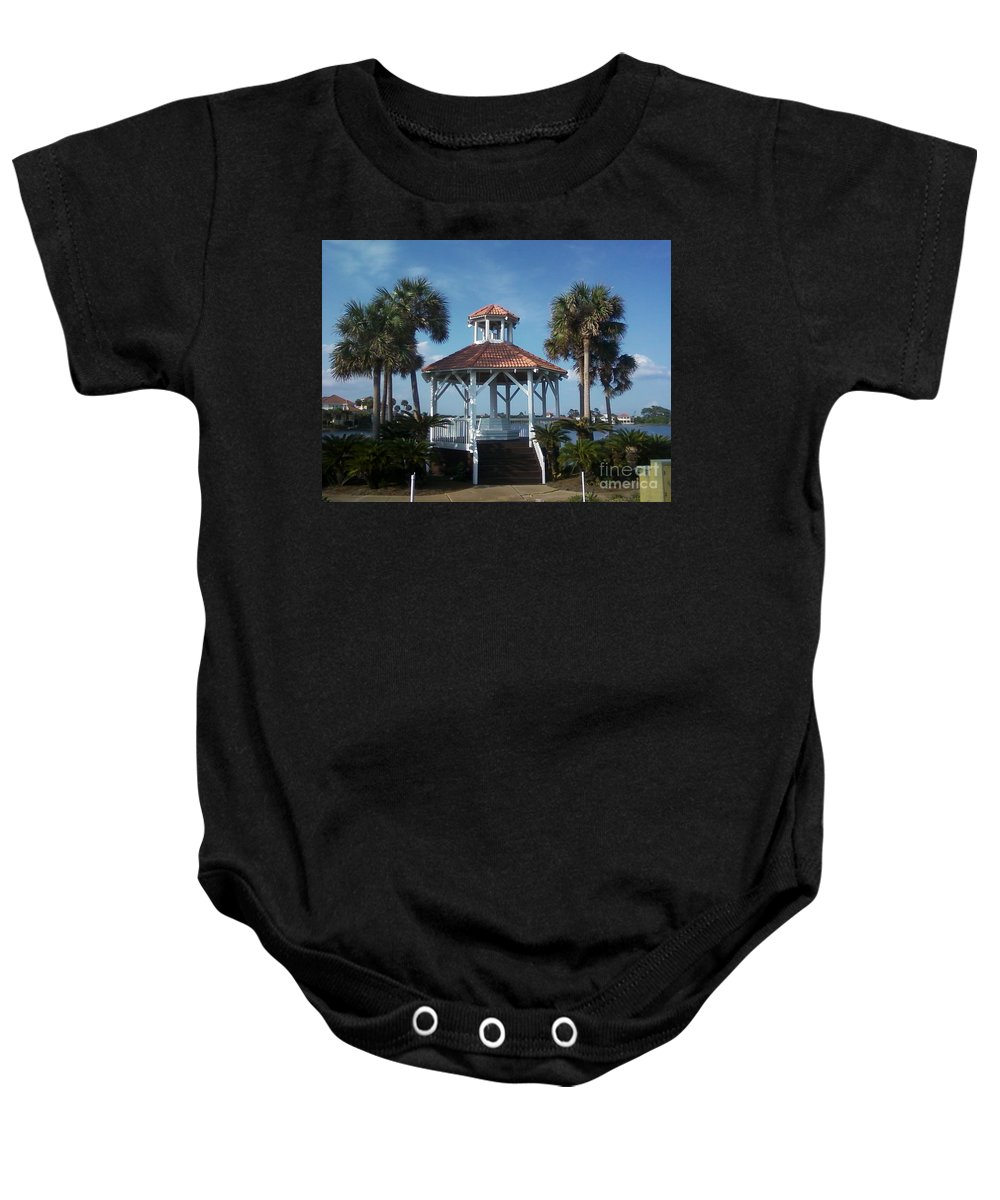 Landscape Baby Onesie featuring the photograph Gazebo by Michelle Powell