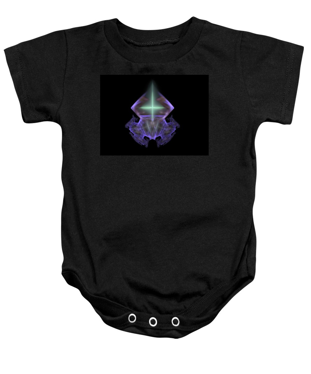 Fractal Baby Onesie featuring the painting Gem With A Cross by Bruce Nutting