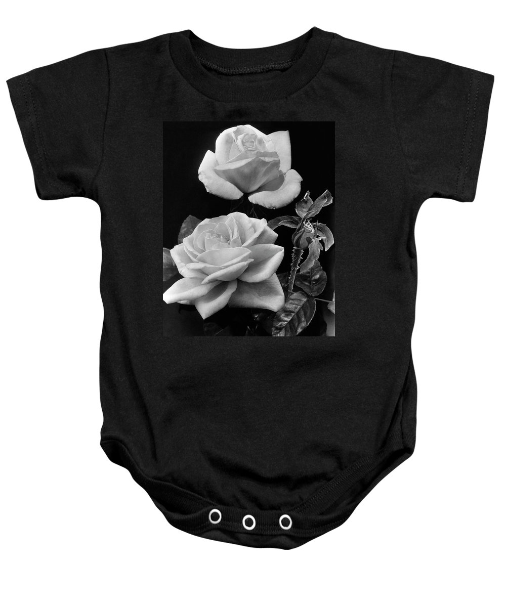 Flowers Baby Onesie featuring the photograph 'george Arends' Roses by J. Horace McFarland