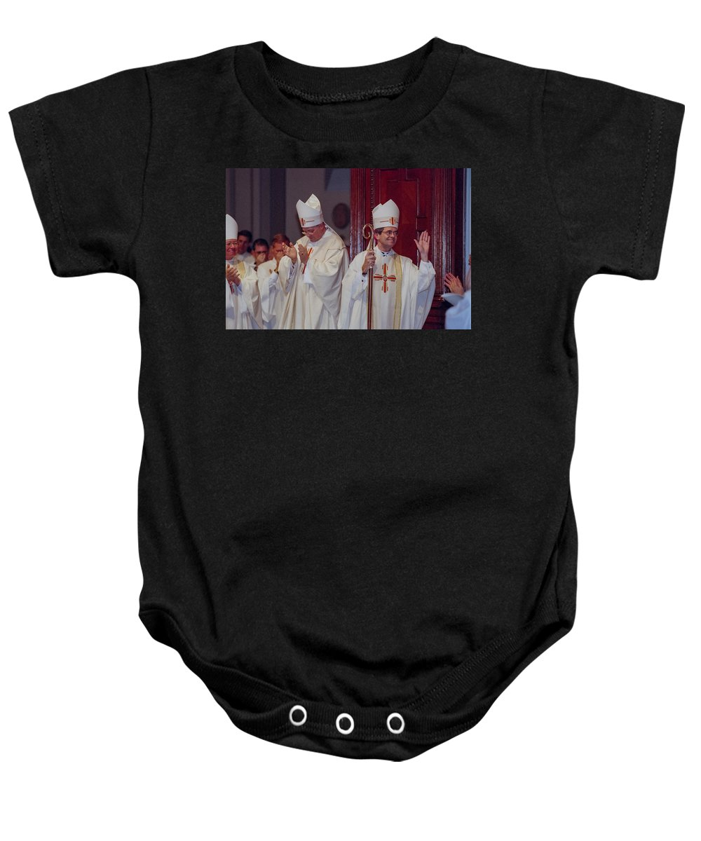 George Thomas Baby Onesie featuring the photograph George Thomas 2 by Mike Penney