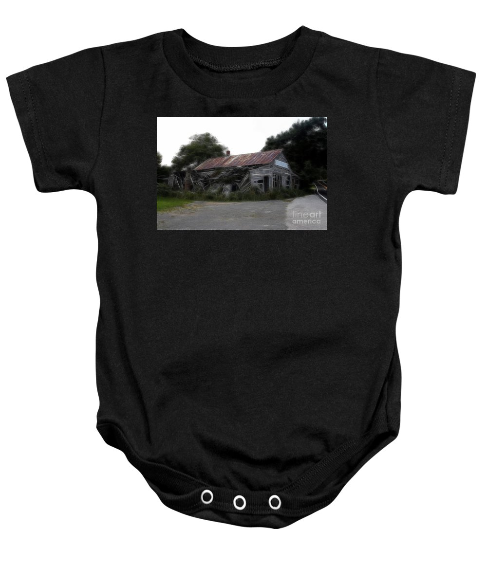 Western Baby Onesie featuring the photograph Ghost Hotel by Doc Braham