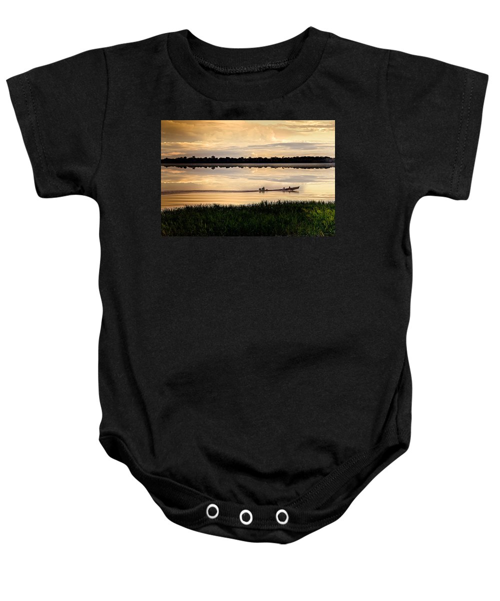 Landscape Baby Onesie featuring the photograph Going Home by Maria Coulson