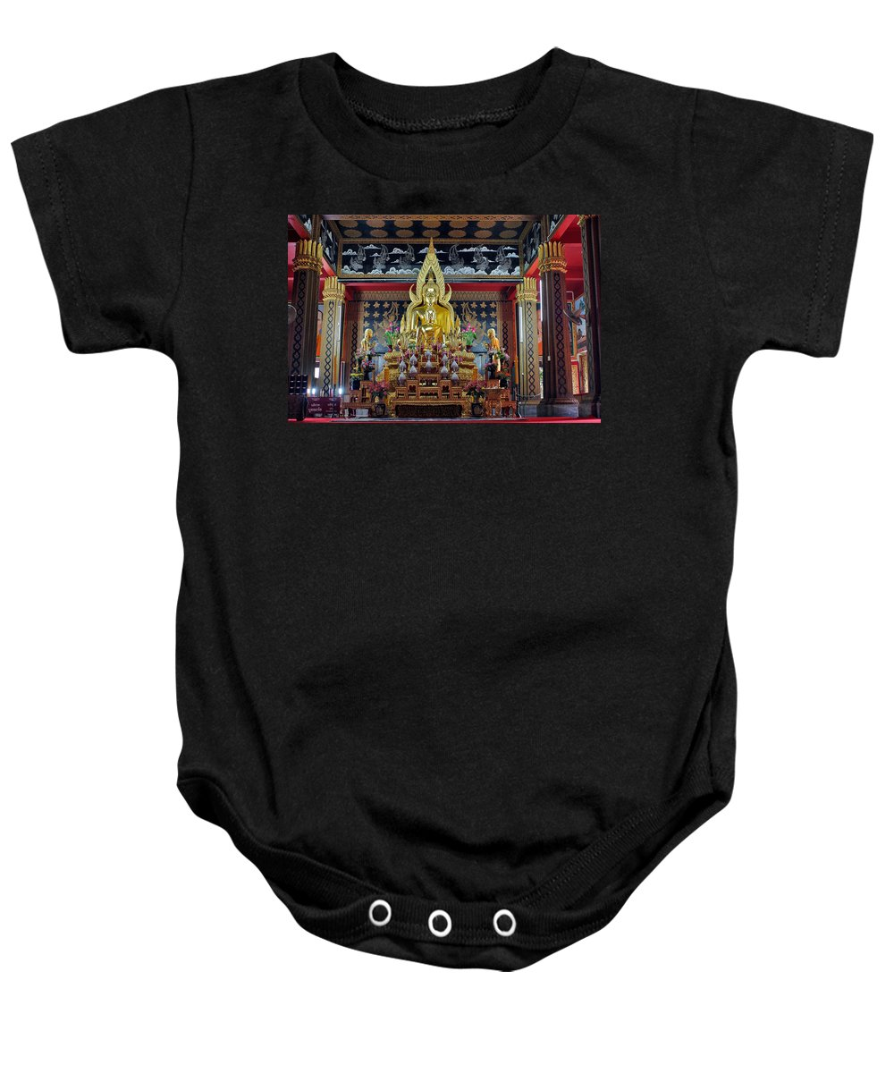 3scape Photos Baby Onesie featuring the photograph Golden Buddha by Adam Romanowicz