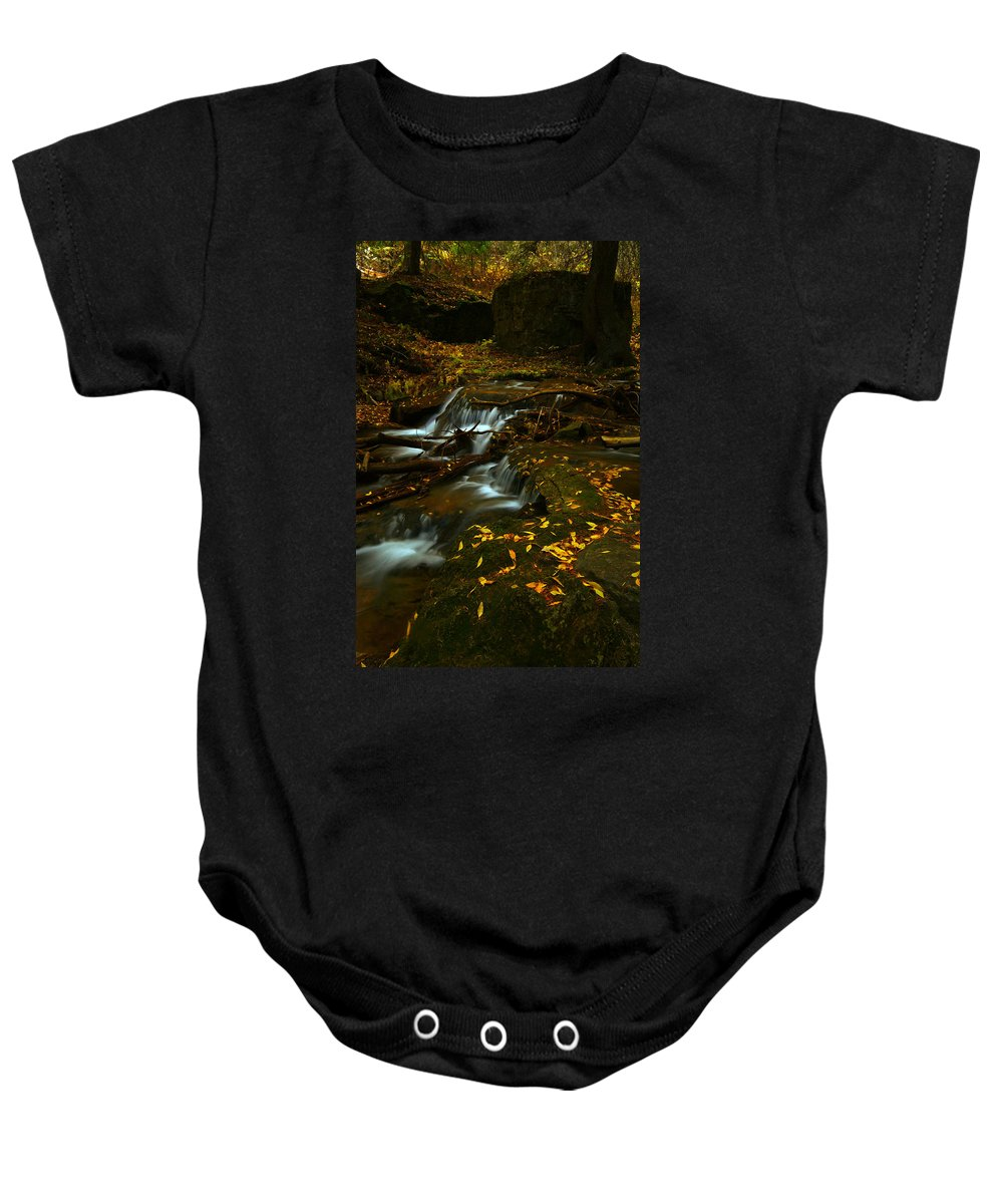 Colorado Baby Onesie featuring the photograph Golden Staircase by Jeremy Rhoades