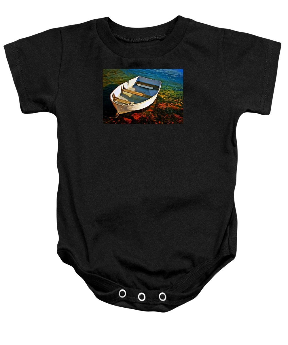 Transportation Baby Onesie featuring the photograph Gone Fishing by Marcia Colelli