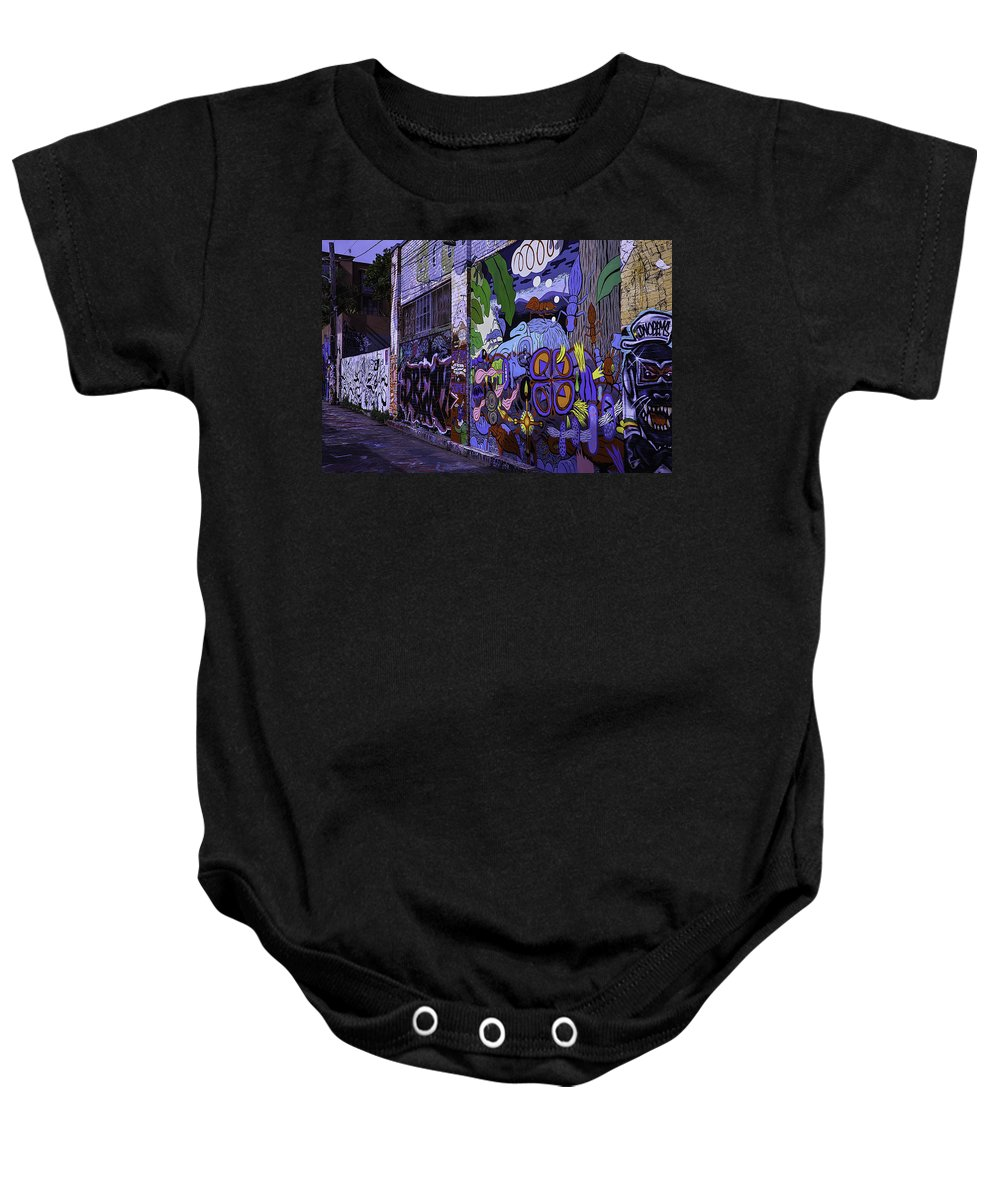 San Francisco Baby Onesie featuring the photograph Graffiti Alley San Francisco by Garry Gay