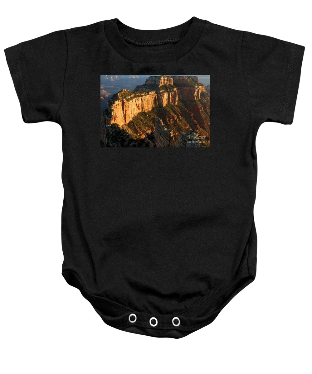 Grand Canyon Baby Onesie featuring the photograph Grand Canyon Cape Royal by Adam Jewell