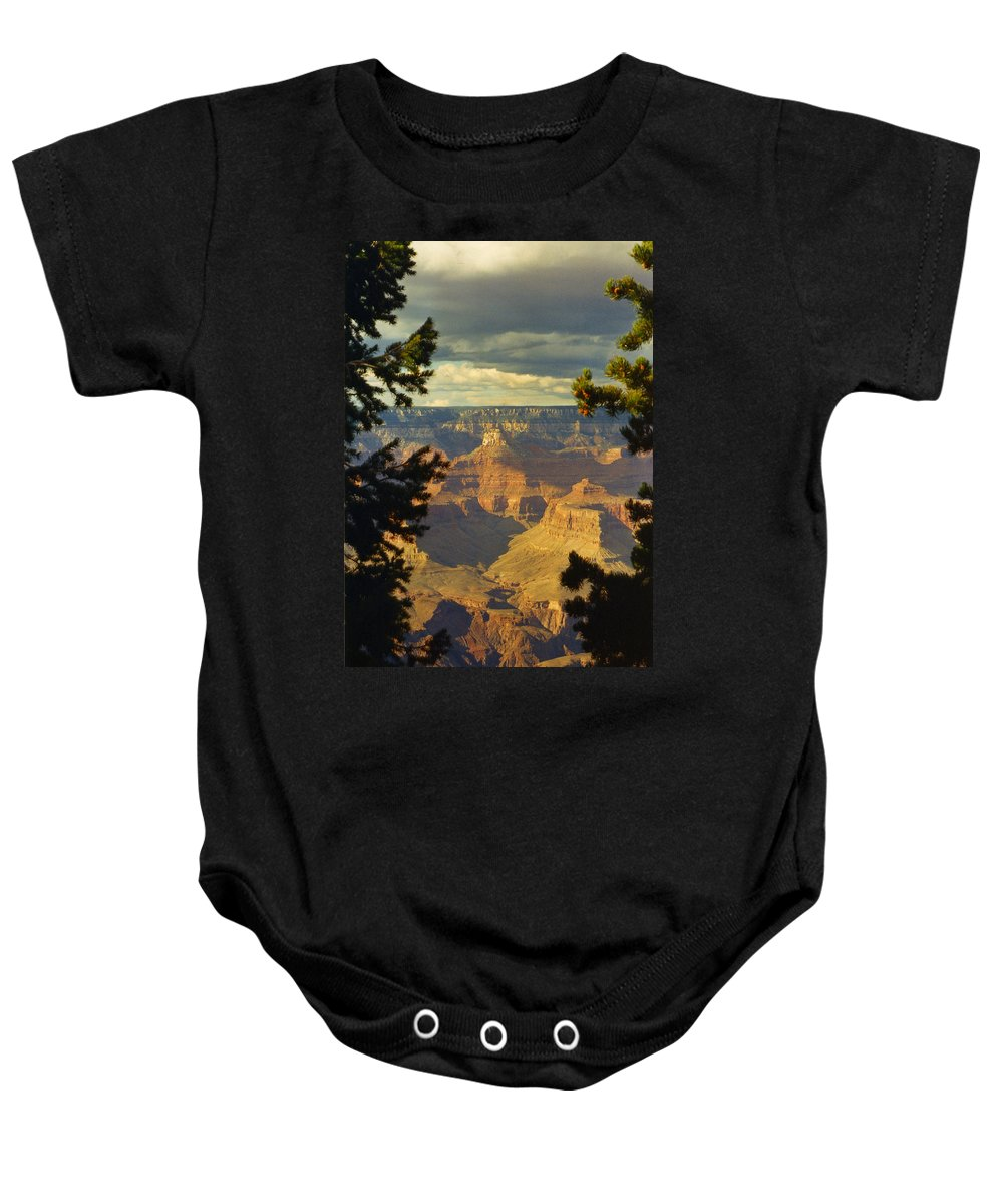 Grand Canyon Baby Onesie featuring the photograph Grand Canyon Peek by Dan McCafferty