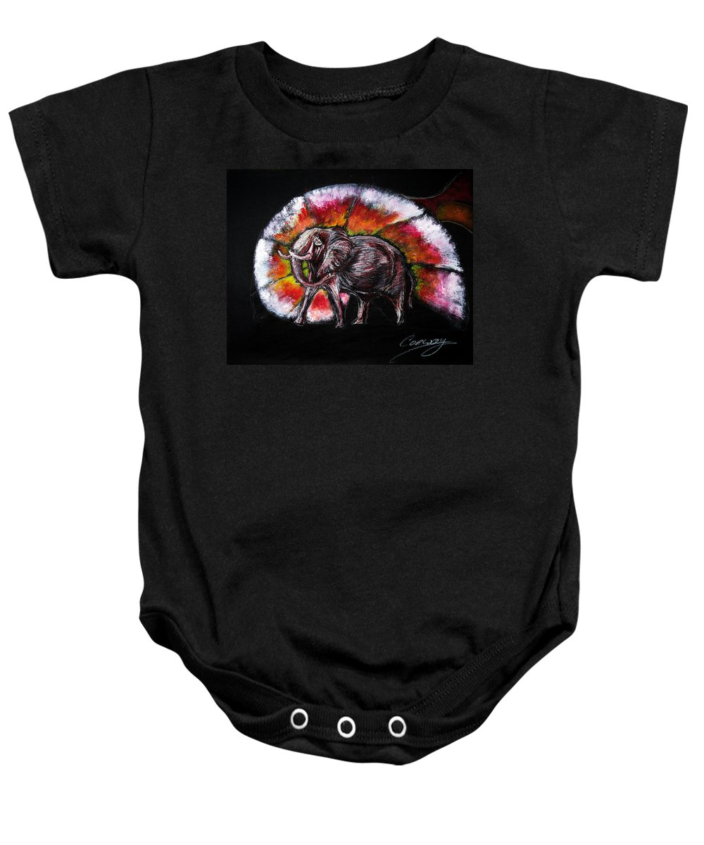 Wild Baby Onesie featuring the drawing Grand Designs For Life On Earth by Tom Conway