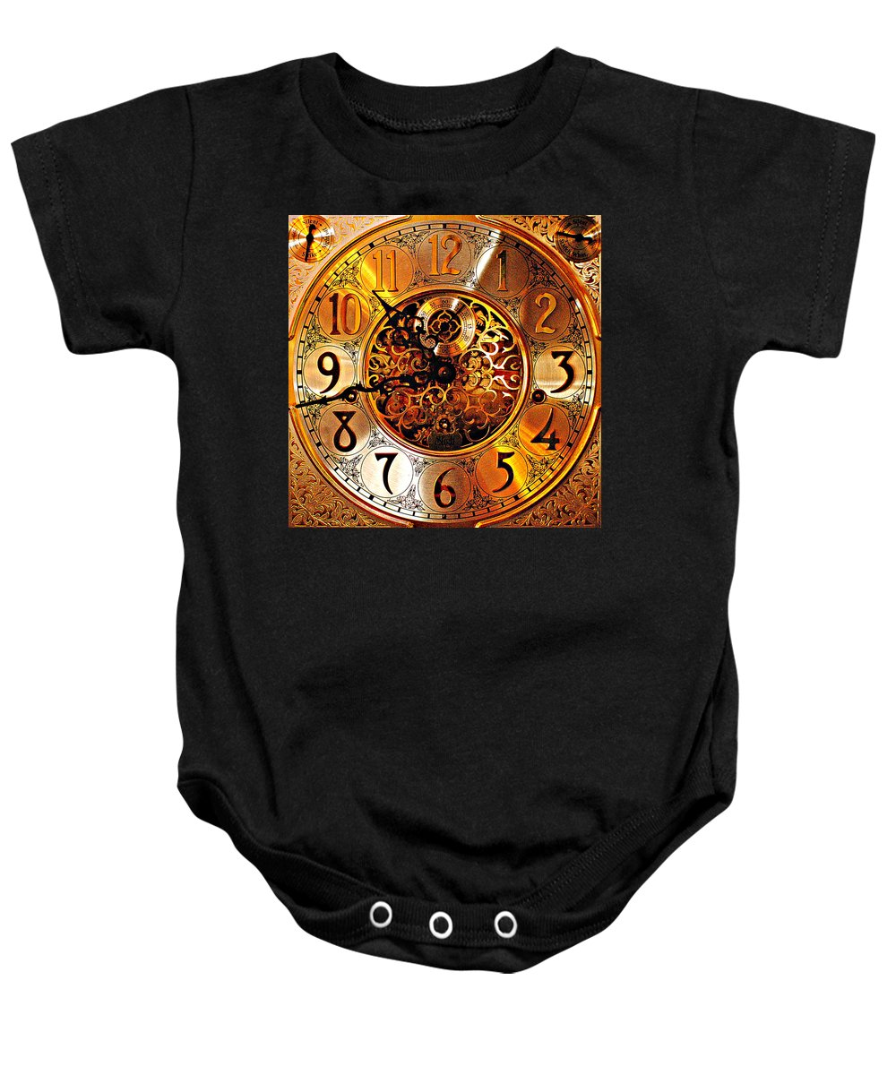 Hdr Baby Onesie featuring the photograph Grandfather Time Hdr by Frozen in Time Fine Art Photography