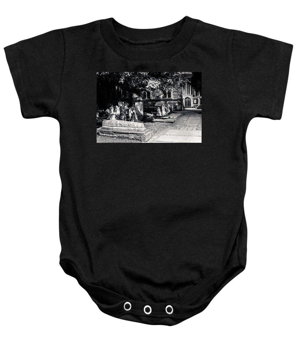 Graveyard Baby Onesie featuring the photograph Graveyard by Dawn OConnor