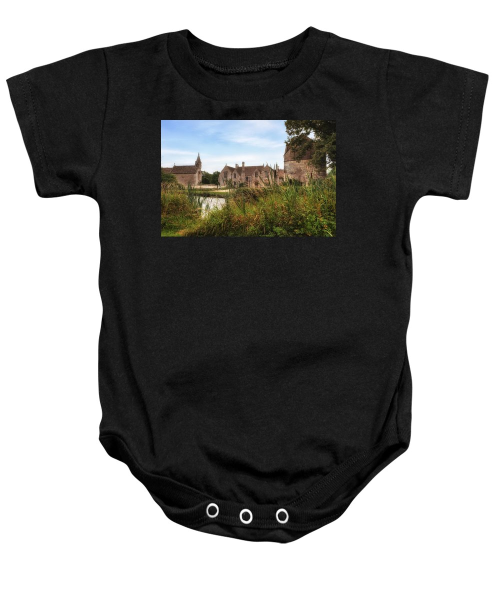 Great Chalfield Manor Baby Onesie featuring the photograph Great Chalfield Manor by Joana Kruse