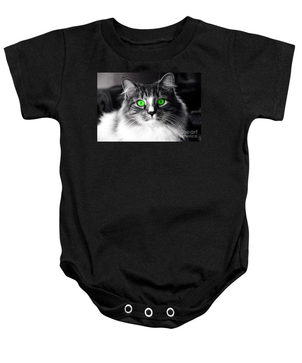 Elvis Baby Onesie featuring the photograph Green Eyed Elvis by Frank Larkin