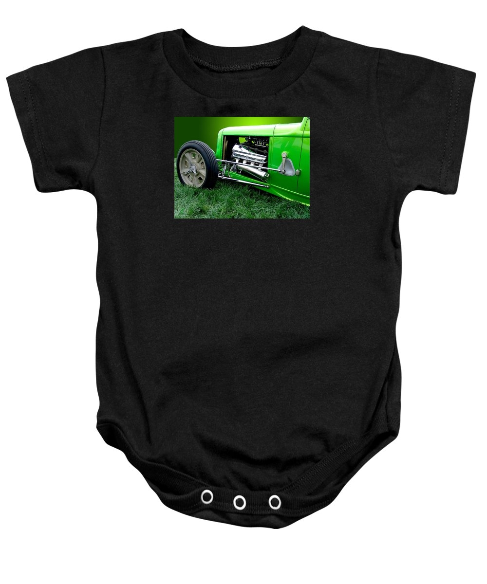 Car Baby Onesie featuring the photograph Green Rod by Chris Thomas