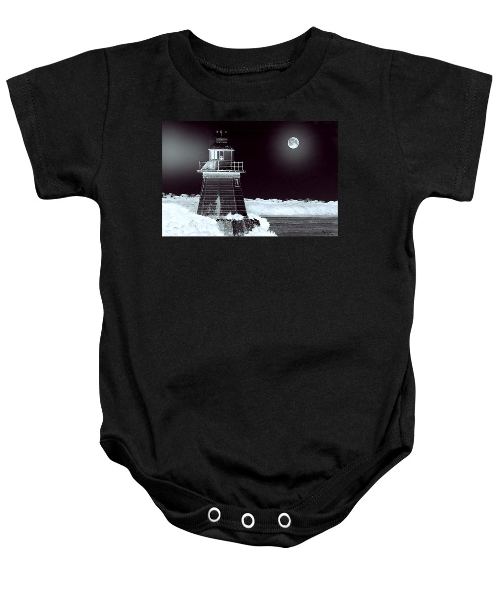 Landscapes Baby Onesie featuring the photograph Guiding Lights by Holly Kempe