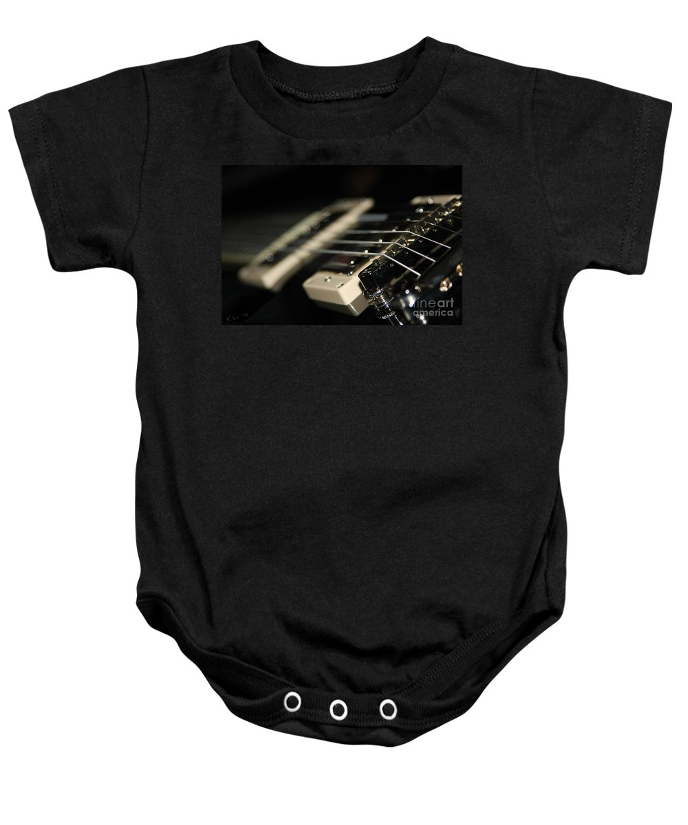 Guitar Baby Onesie featuring the photograph Guitar Glance by Karol Livote