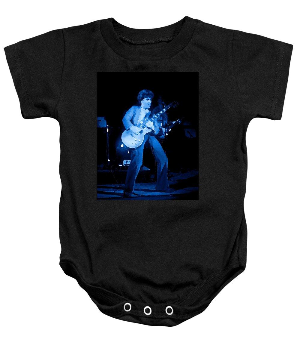 Sammy Hagar Baby Onesie featuring the photograph Hagar Art 3 by Ben Upham
