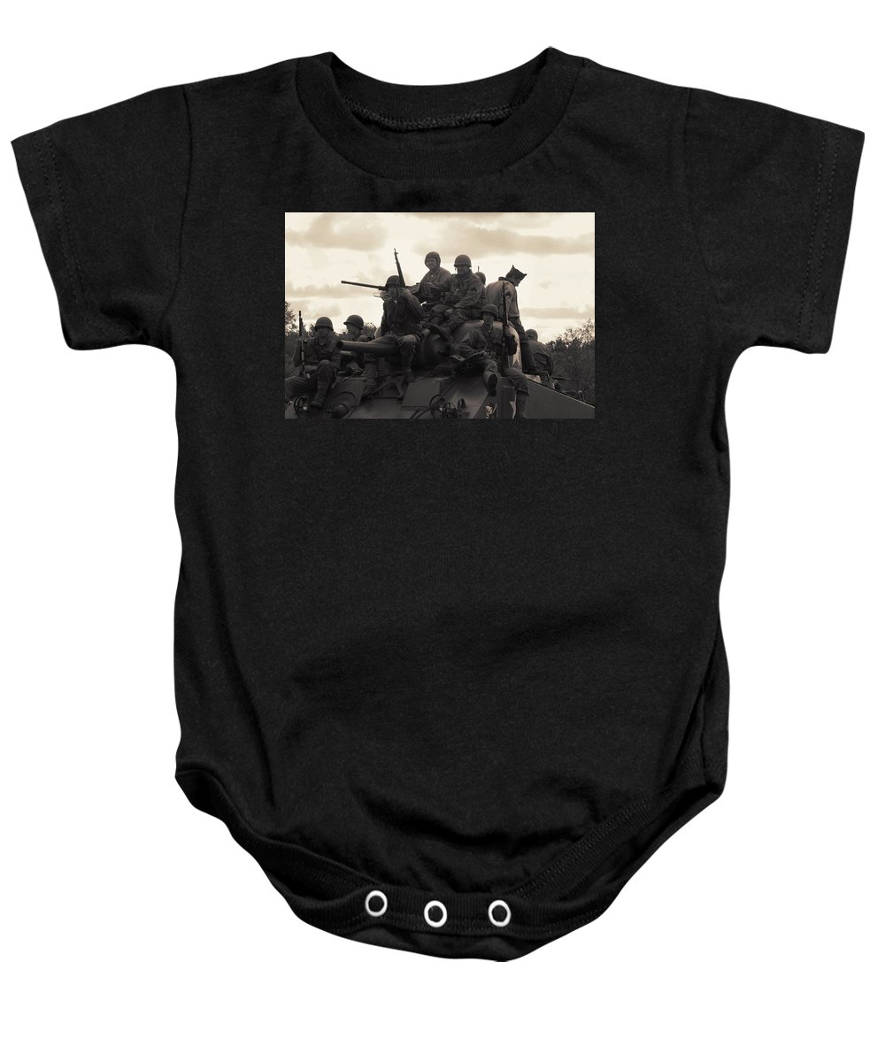 Tank Baby Onesie featuring the photograph Hail To The Victors by Lyle Hatch
