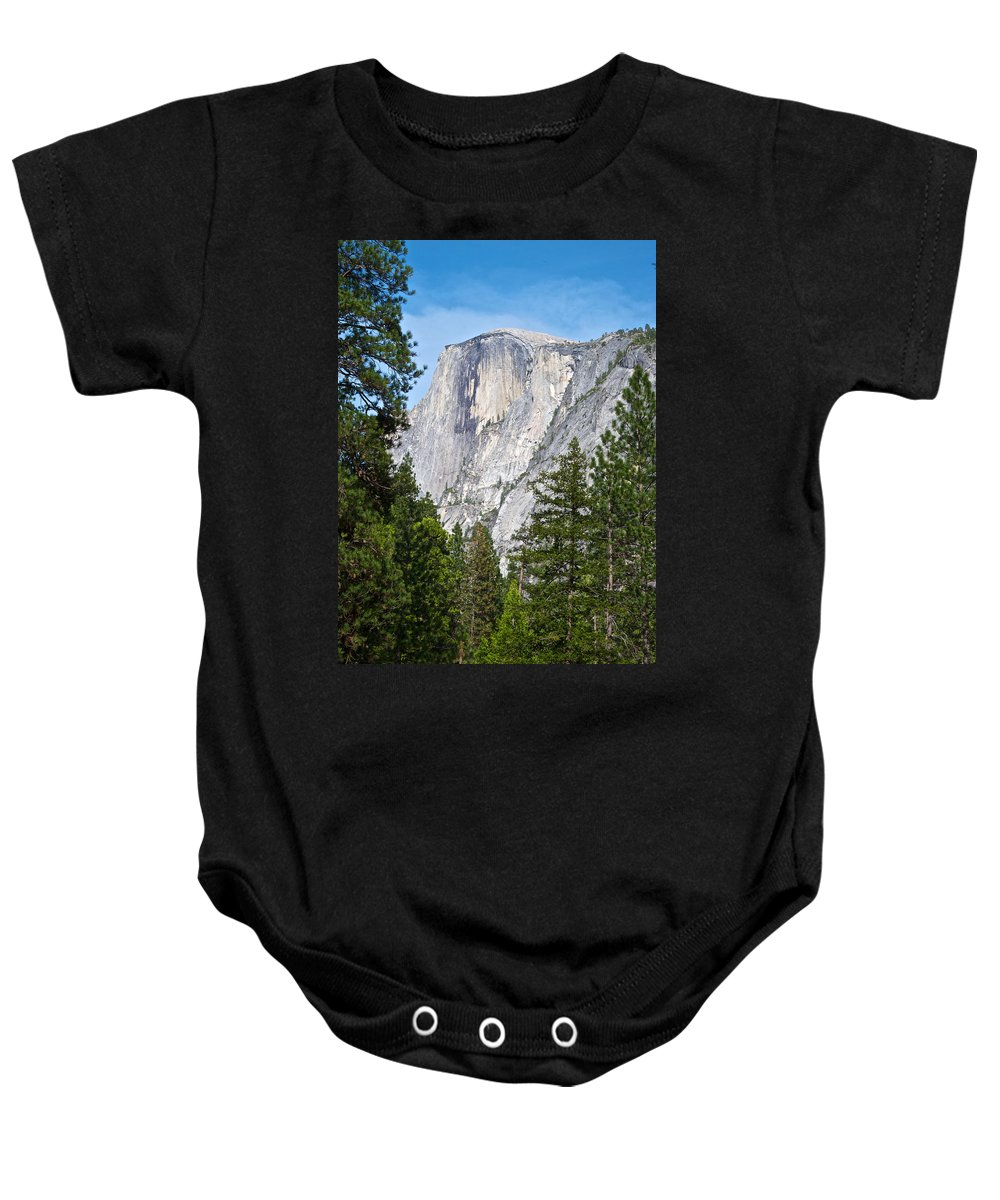 Half Dome In Spring Baby Onesie featuring the photograph Half Dome In Spring In Yosemite Np-2013 by Ruth Hager