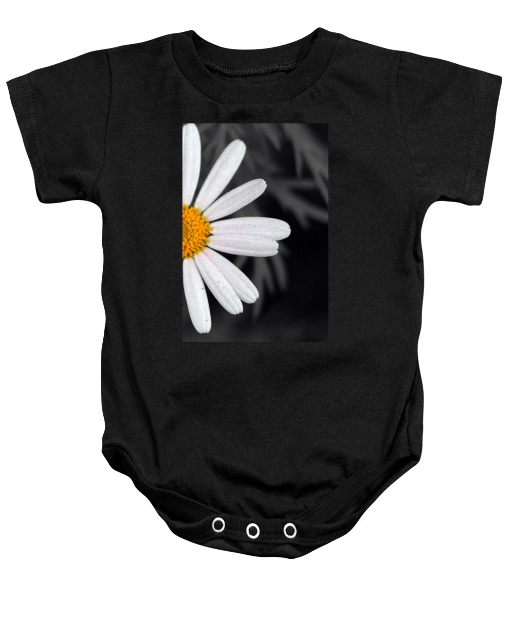 Black Baby Onesie featuring the photograph Half The Good by Munir Alawi