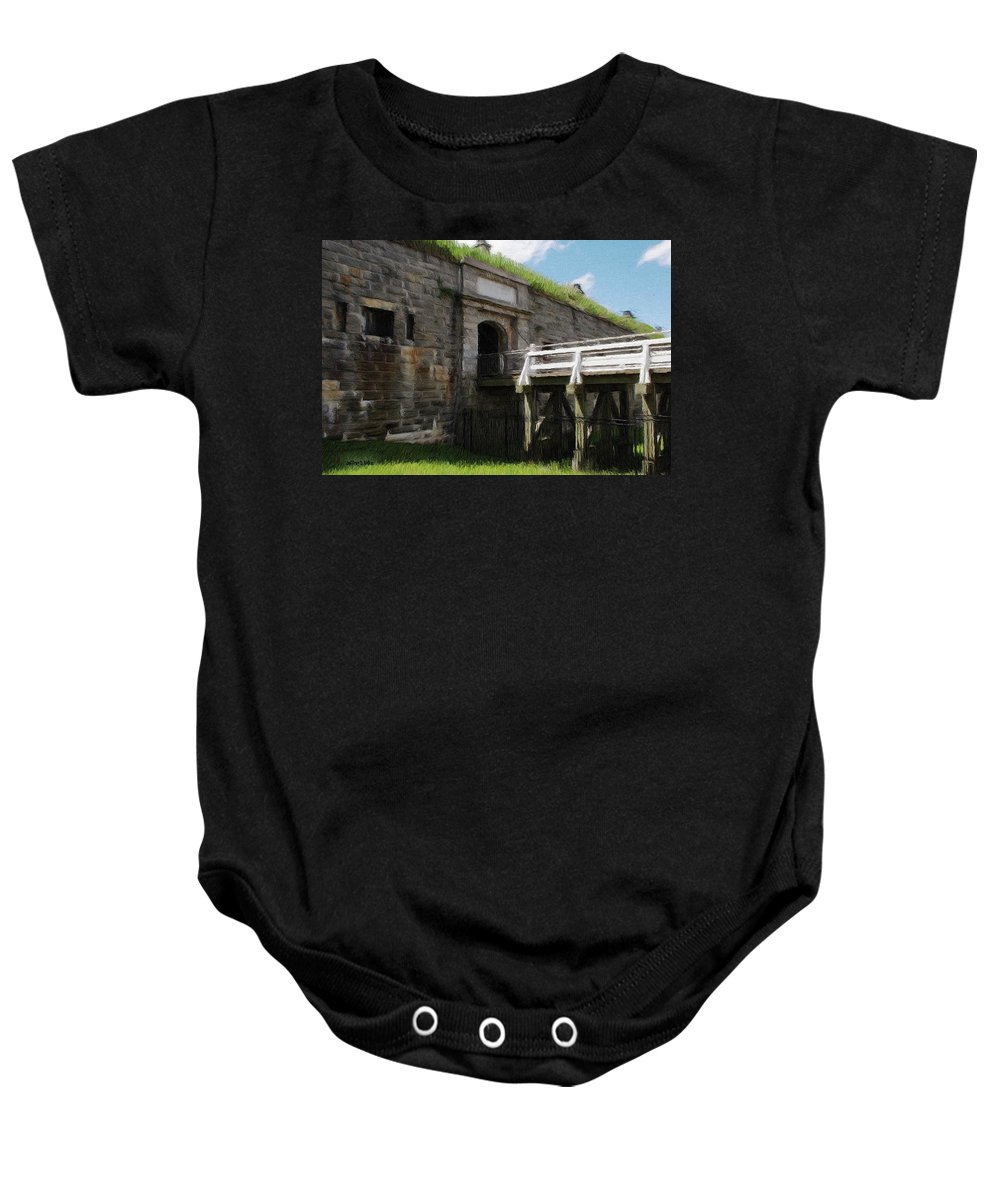 Canadian Baby Onesie featuring the painting Halifax Citadel by Jeffrey Kolker