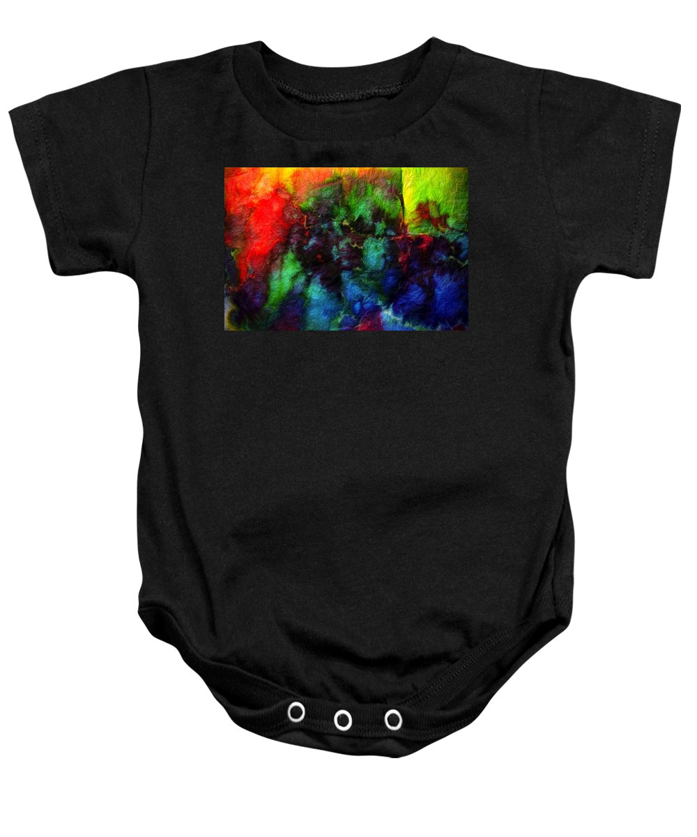 Dyed Baby Onesie featuring the photograph Hand Dyed 5 by Anita Bell
