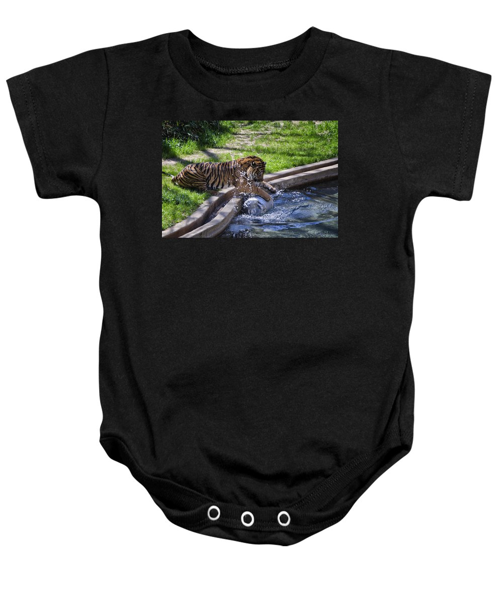 Animals Baby Onesie featuring the photograph Happy Hour by Joan Carroll