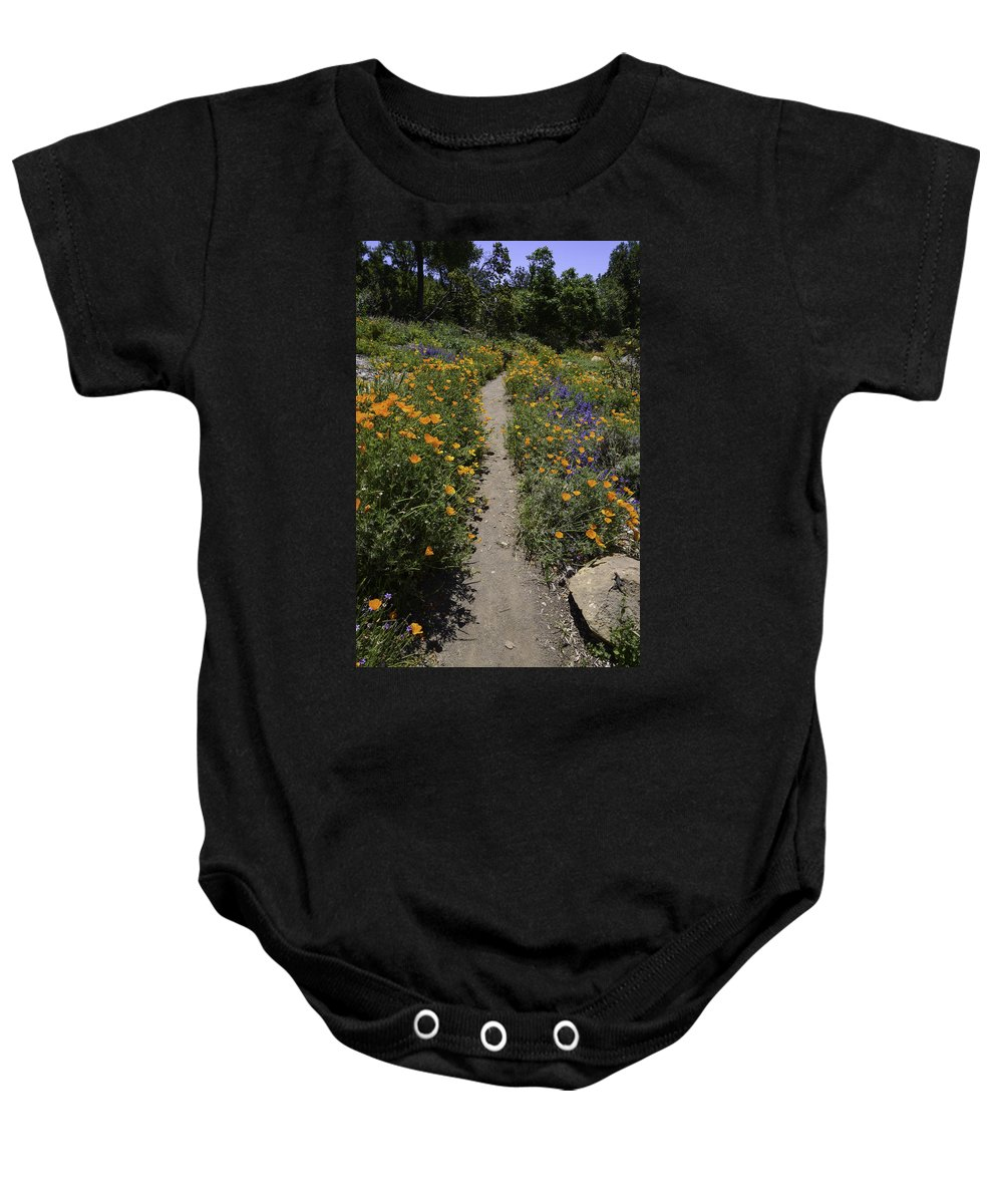 Sbbg Baby Onesie featuring the photograph Happy Trails by Lynn Bauer