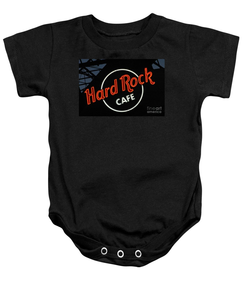 Hard Rock Cafe Baby Onesie featuring the photograph Hard Rock - St. Louis by Gary Gingrich Galleries