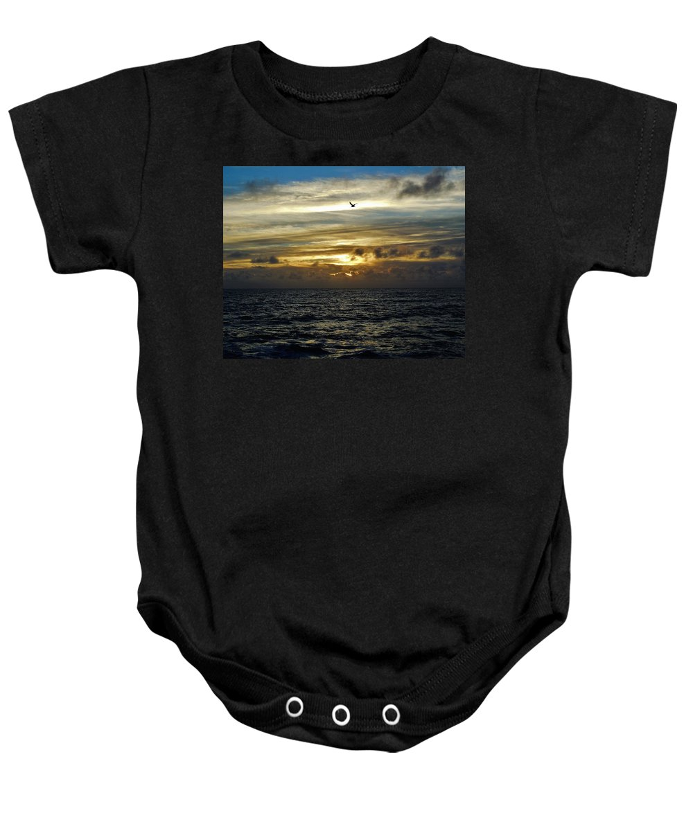 Mark Lemmon Cape Hatteras Nc The Outer Banks Photographer Subjects From Sunrise Baby Onesie featuring the photograph Hatteras Island Sunrise 2 9/10 by Mark Lemmon