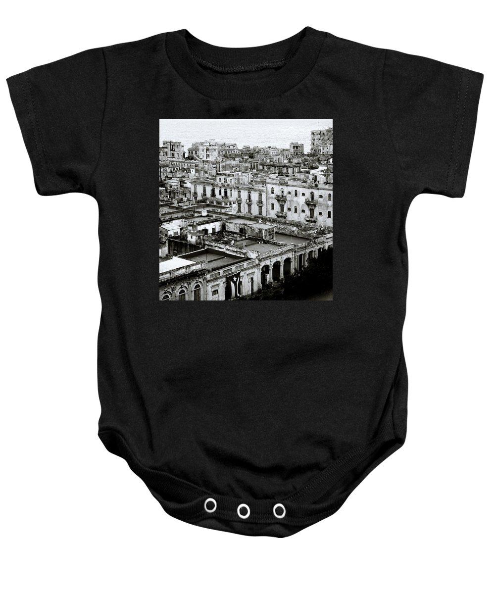 Havana Baby Onesie featuring the photograph Havana City by Shaun Higson