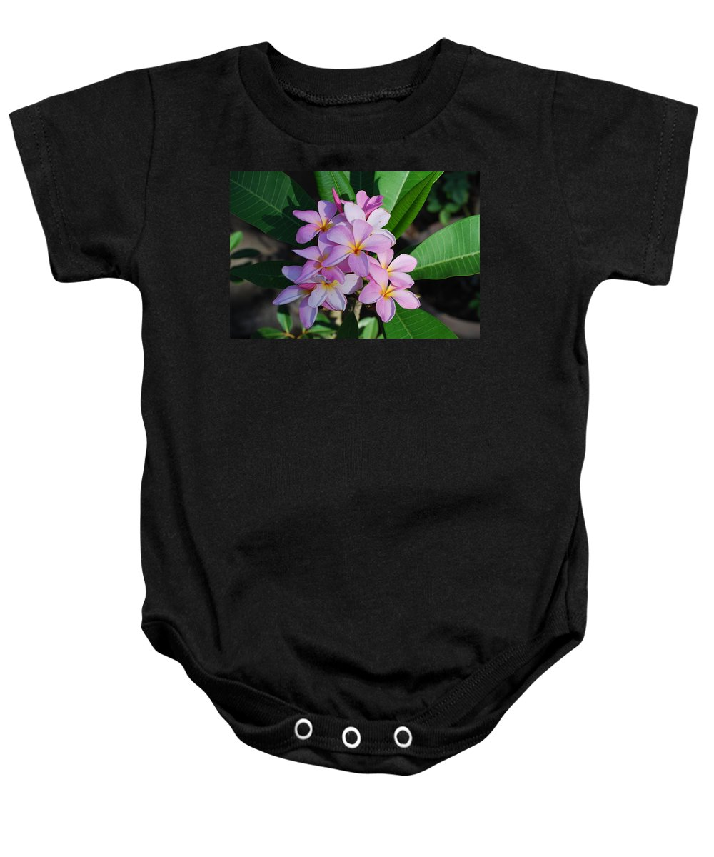 Used By Hawaiian People To Make Necklace Baby Onesie featuring the photograph Hawaiian Lei Flower by Robert Floyd