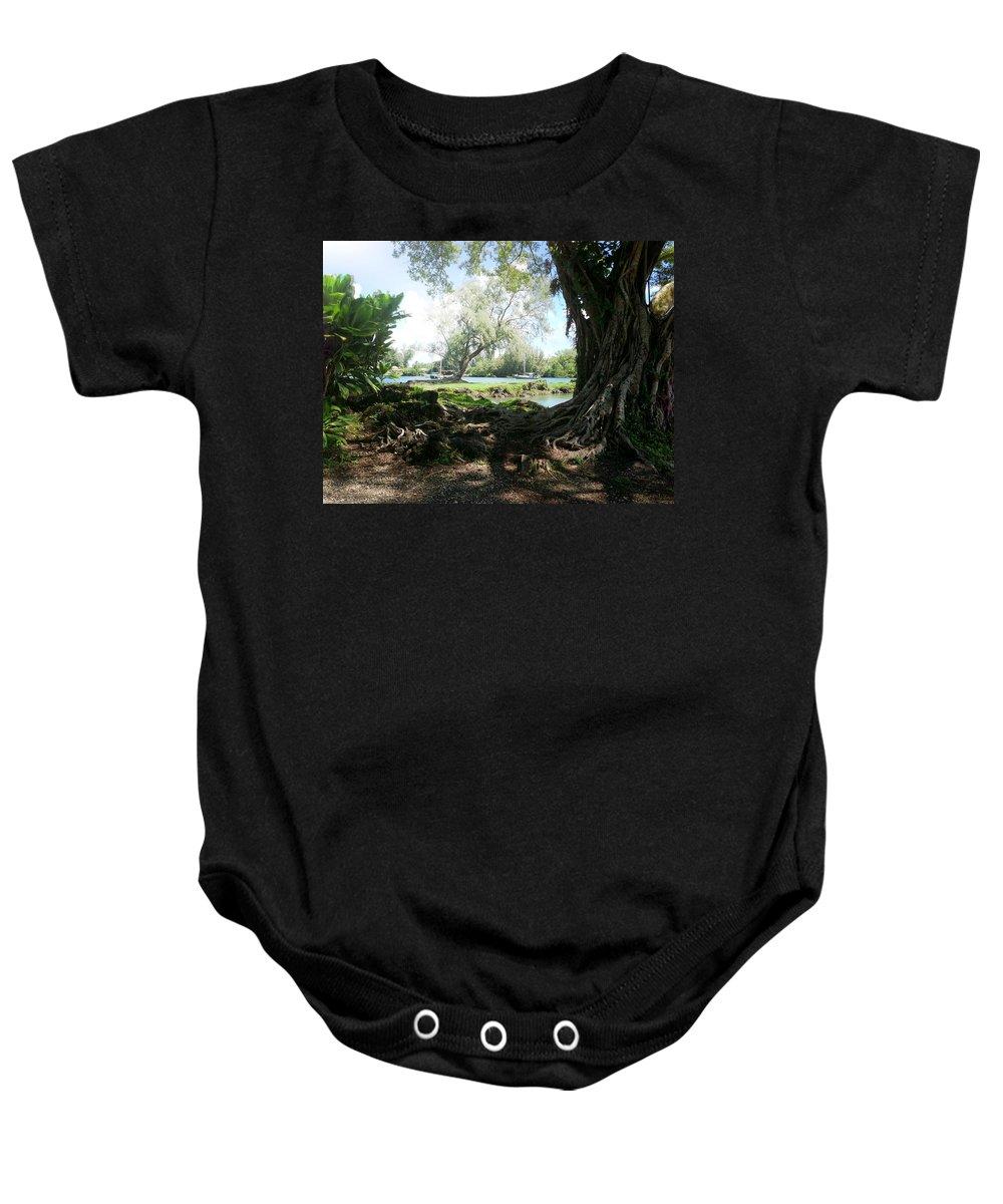 Hawaiian Landscape Baby Onesie featuring the digital art Hawaiian Landscape 3 by D Preble