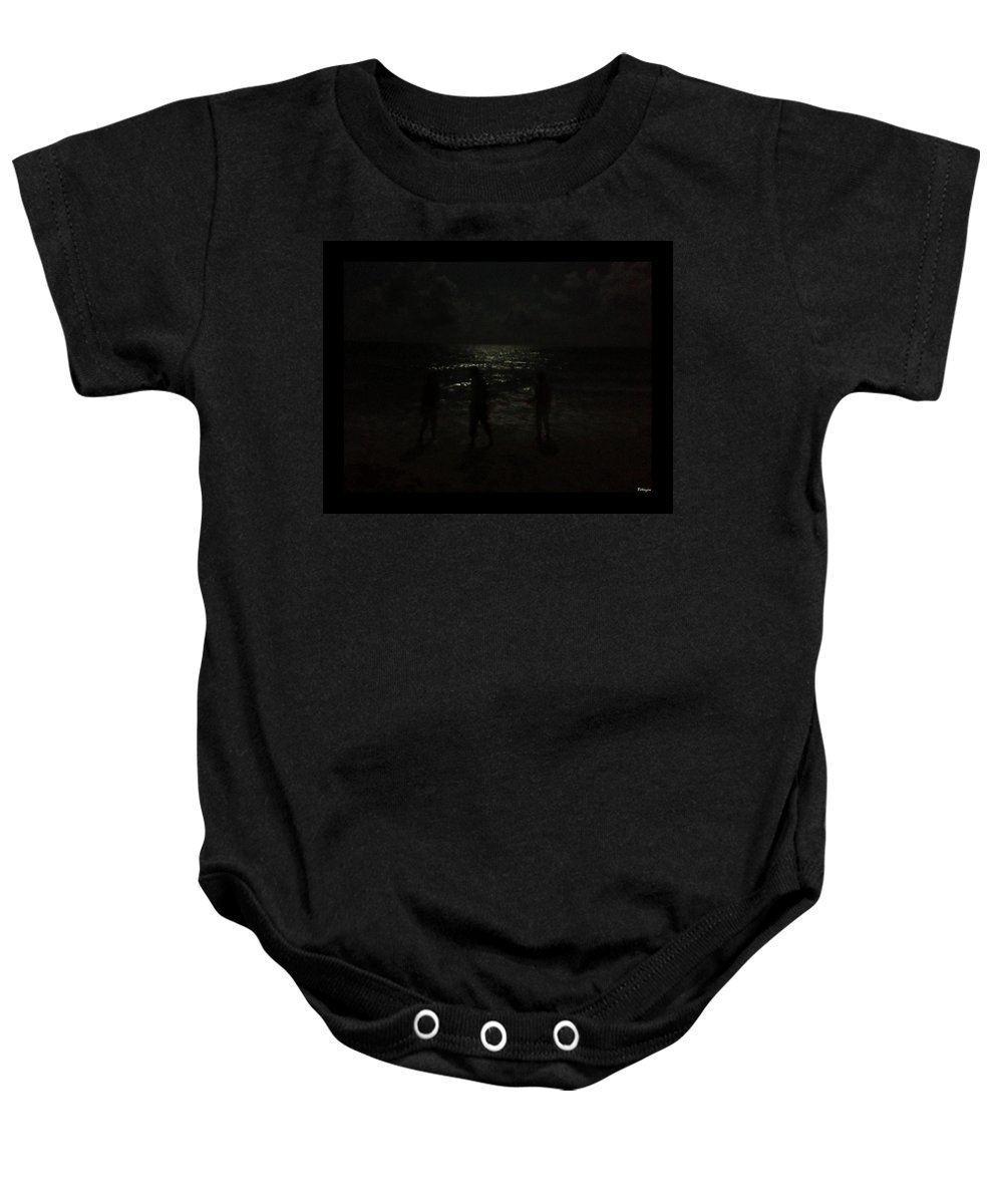 Beach Baby Onesie featuring the photograph Hazy Memory... by Tim Fillingim