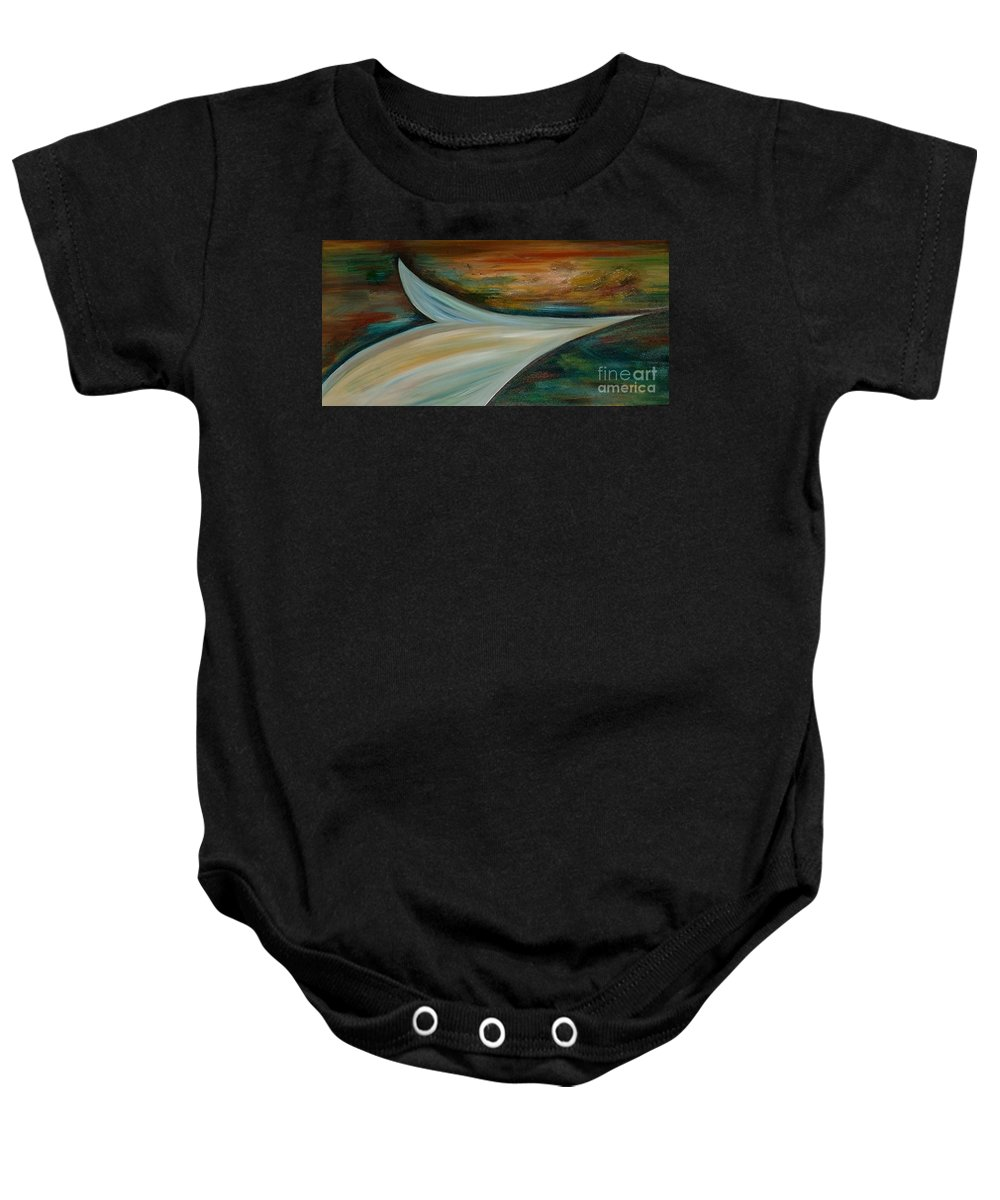 Abstract Baby Onesie featuring the painting Heaven by Silvana Abel