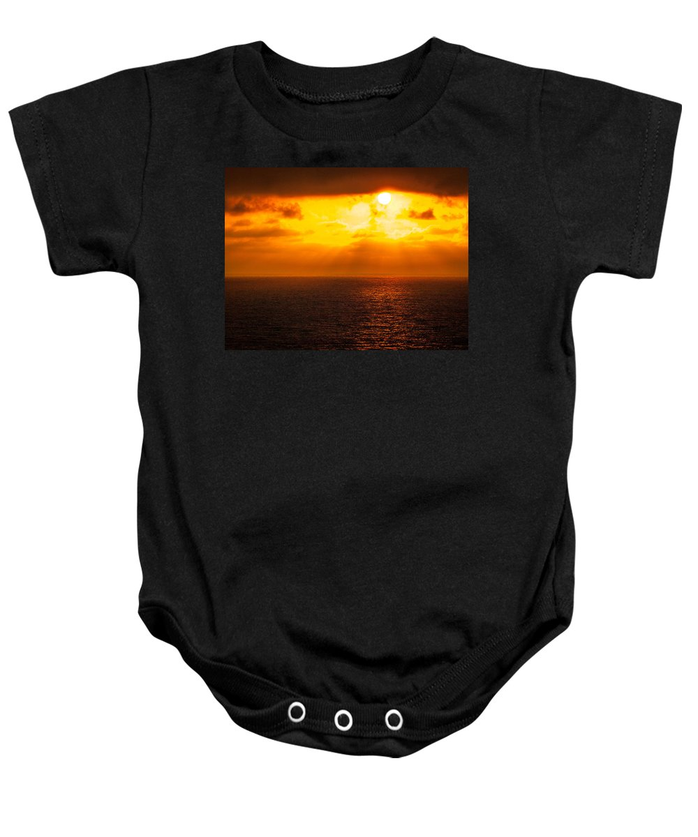 Sunset Baby Onesie featuring the photograph Heaven's Glow by Cathy Smith