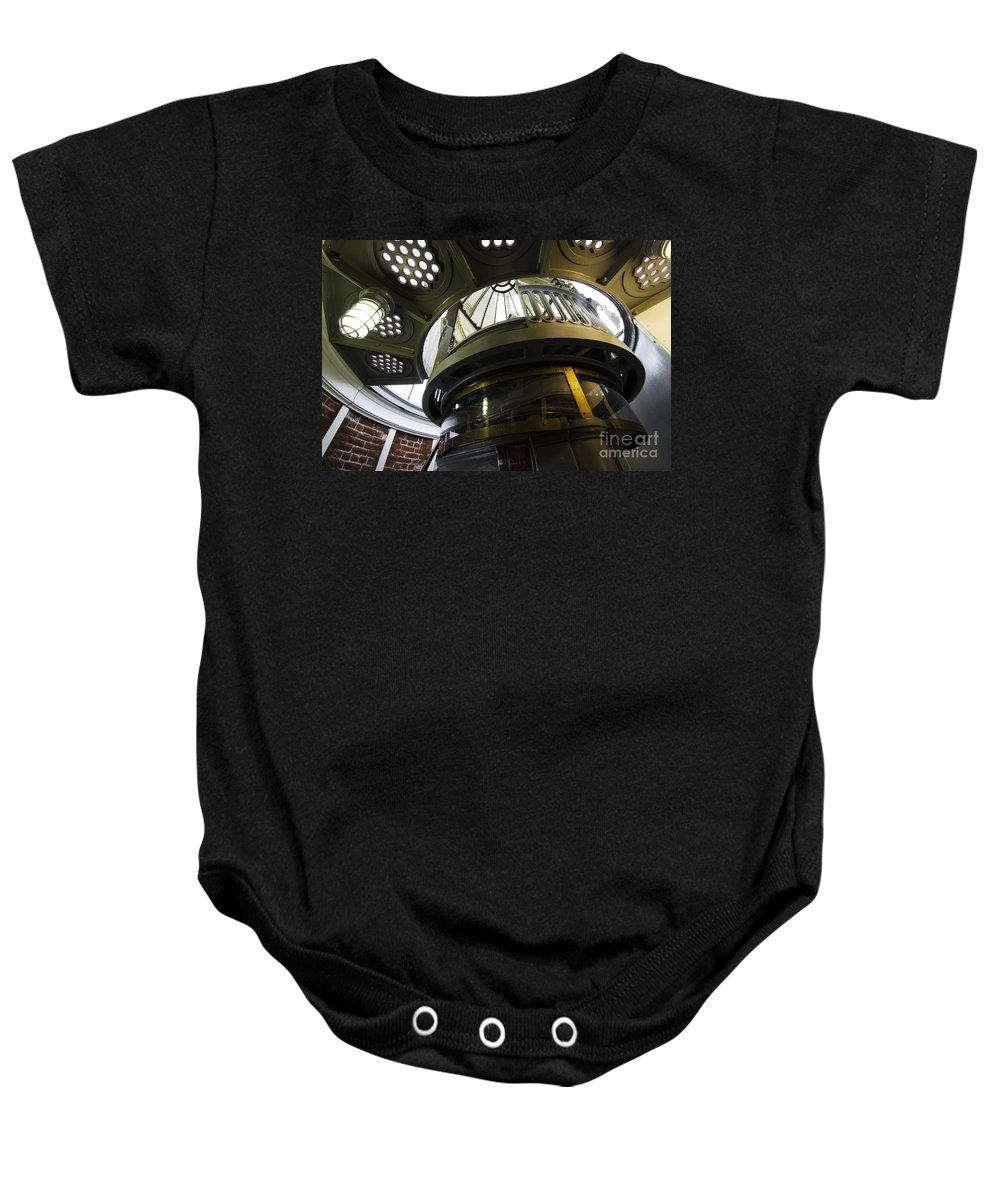 Lighthouse Baby Onesie featuring the photograph Heceta Head Lighthouse Interior 3 by Bob Christopher
