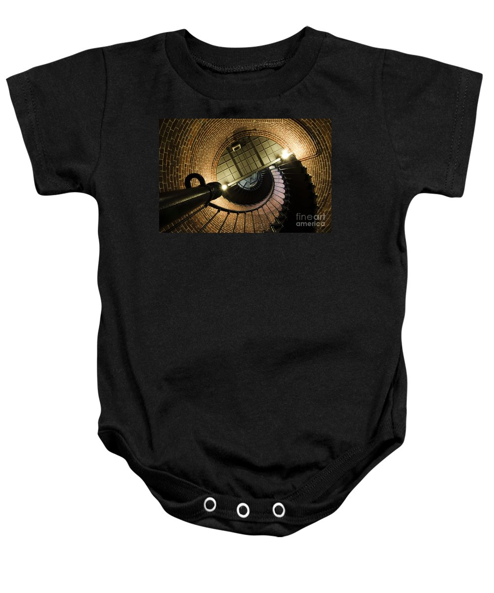 Lighthouse Baby Onesie featuring the photograph Heceta Head Lighthouse Interior 4 by Bob Christopher