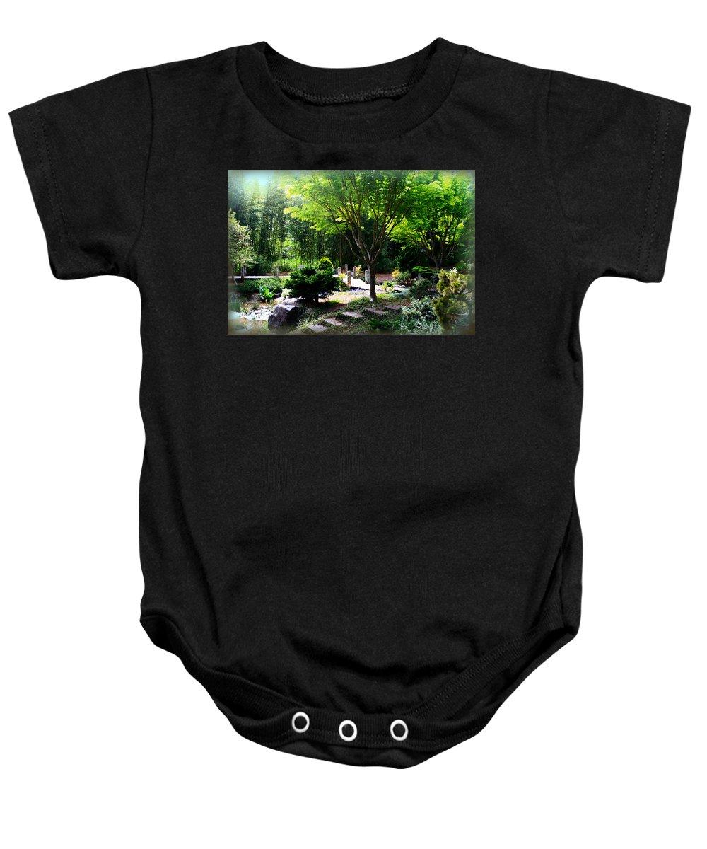 Mingus Park Baby Onesie featuring the photograph Heiwa-teki by Sally Bauer