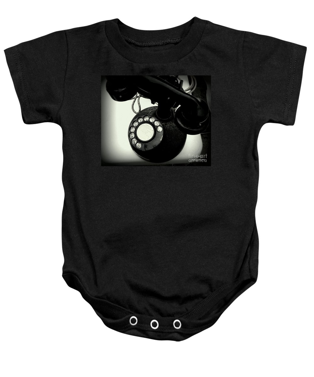 Telephone Baby Onesie featuring the photograph Hello Hello by Lainie Wrightson