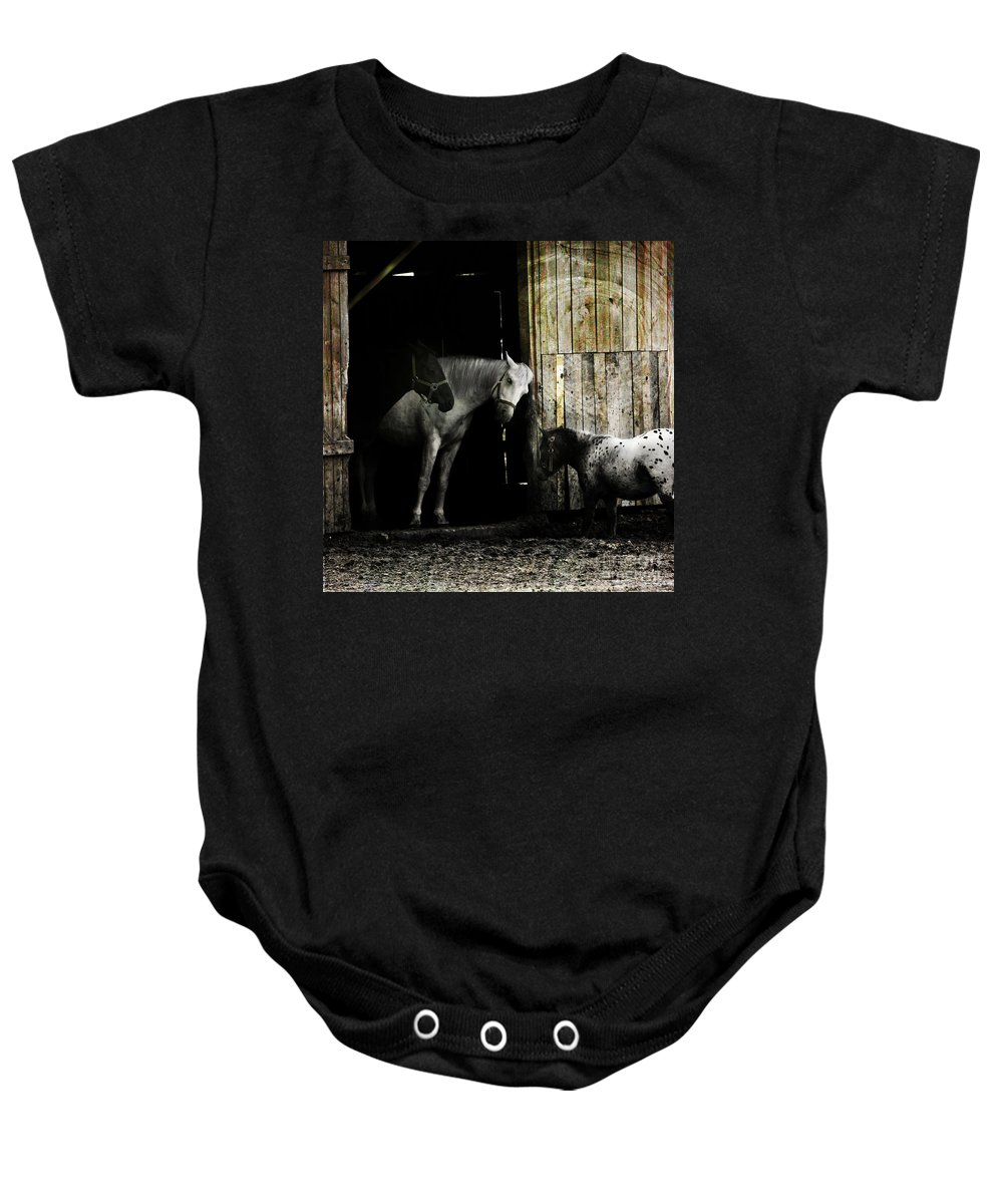 Guest Baby Onesie featuring the photograph Hello Neighbour by Angel Tarantella