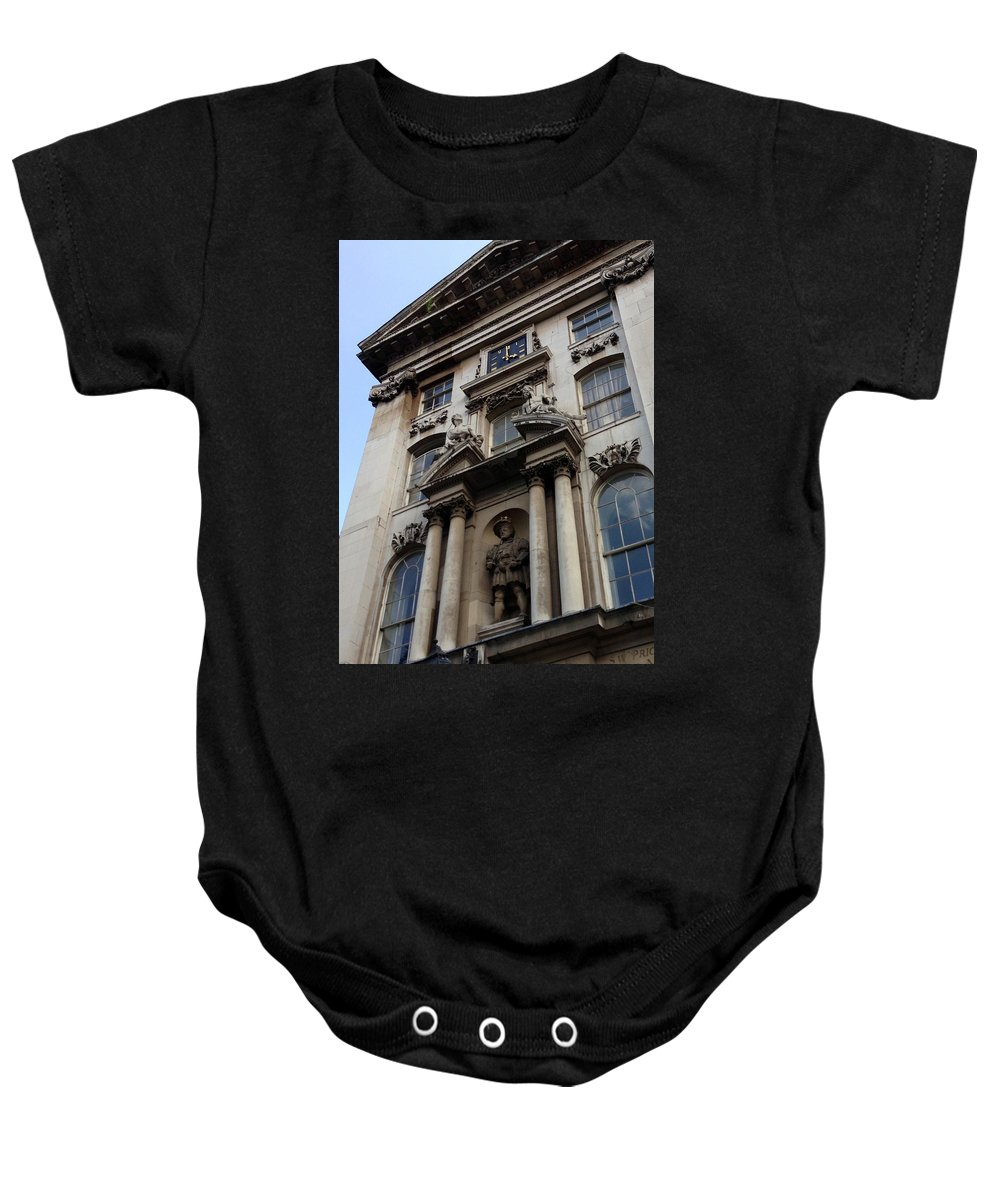 Henry The Eighth Baby Onesie featuring the photograph Henry The Eighth London England by Lois Ivancin Tavaf