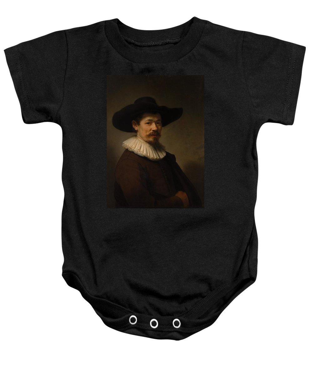 1640 Baby Onesie featuring the painting Herman Doomer by Rembrandt van Rijn