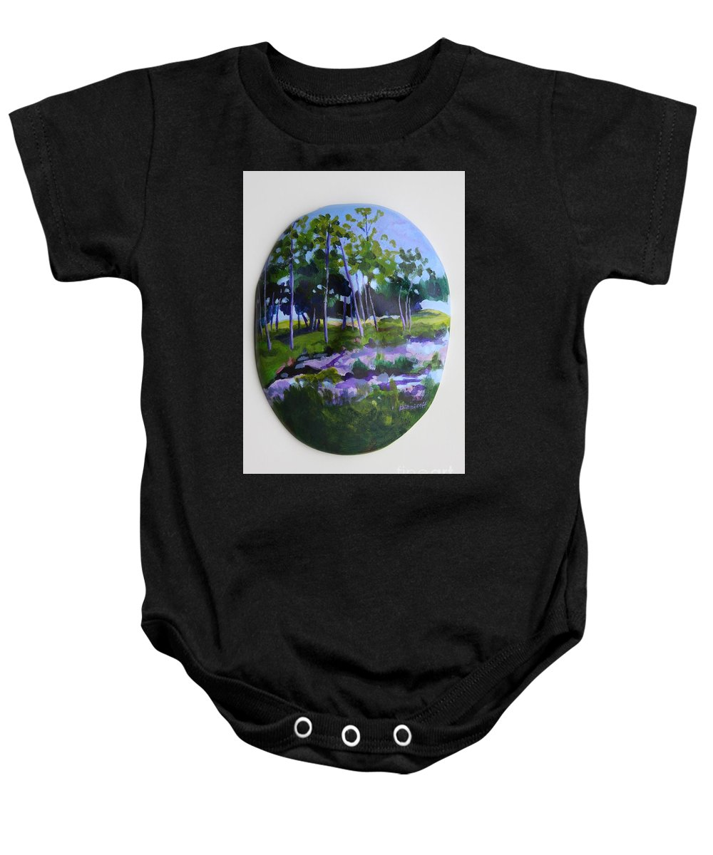 Nature Baby Onesie featuring the painting Hidden Florida by Jan Bennicoff