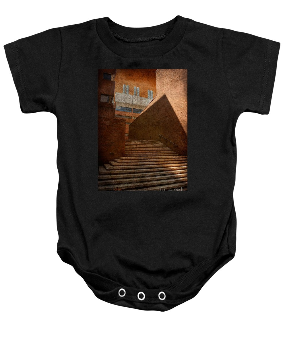 Steps Baby Onesie featuring the photograph Higher Learning by Lois Bryan