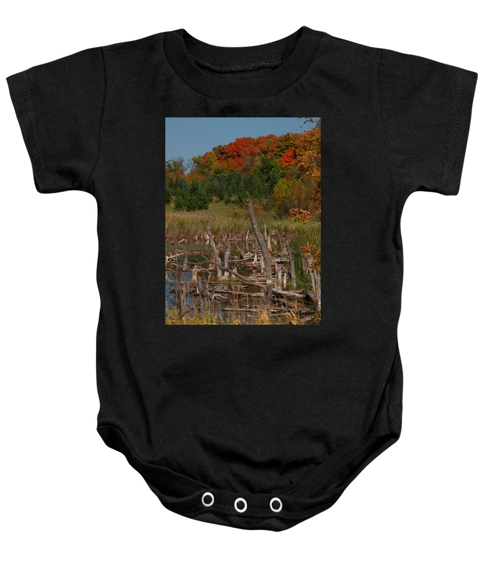 James Baby Onesie featuring the photograph Highway 27 by James Peterson