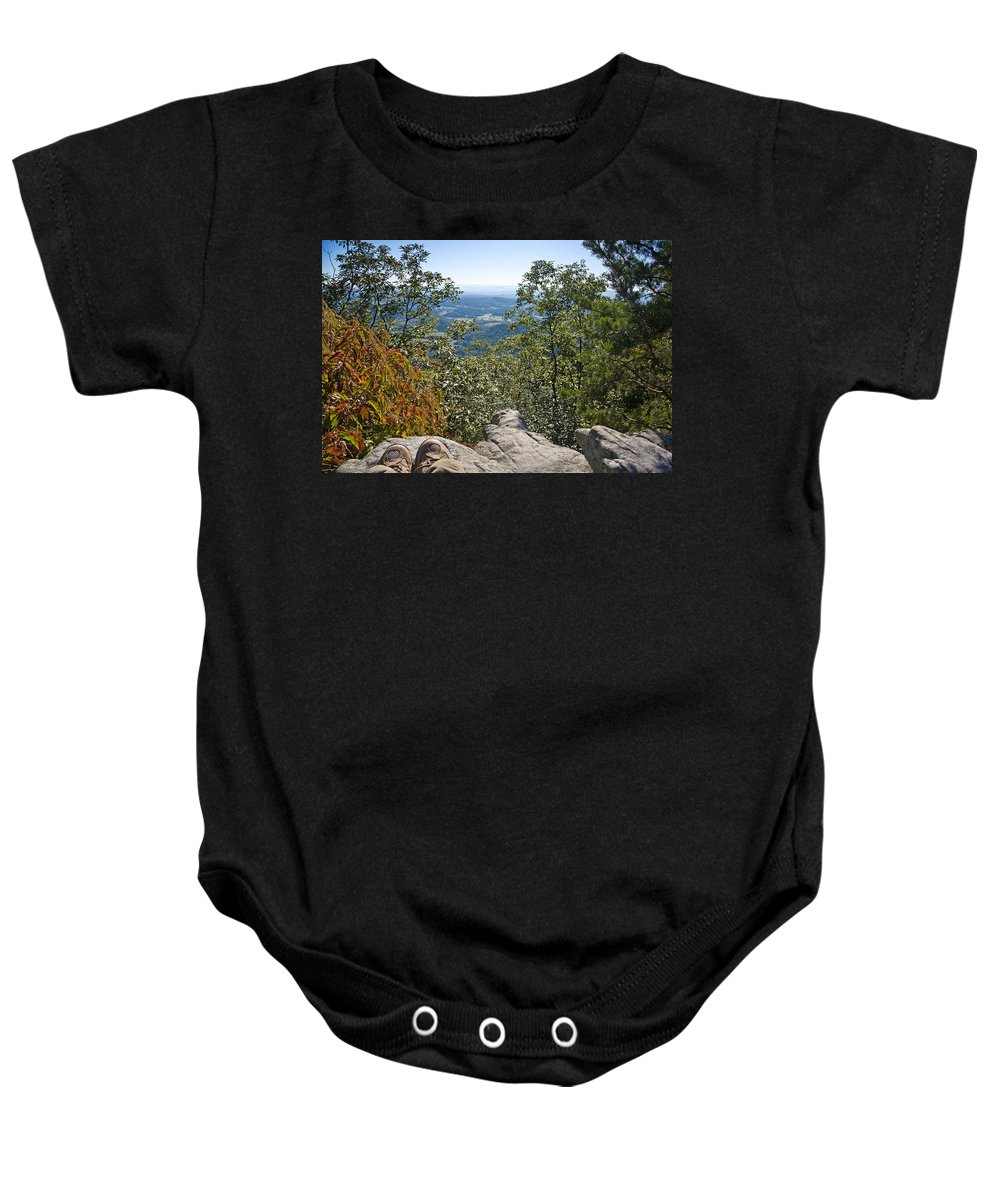 View Baby Onesie featuring the photograph Hiking View by Melinda Fawver